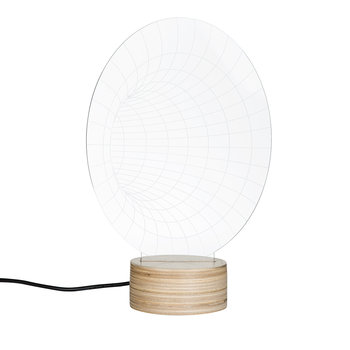 Tunnel Lamp - Glass/Plywood Birch