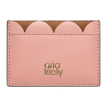 Giant Scallop Leather Card Holder - Tan