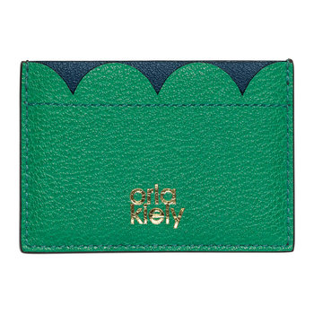 Giant Scallop Leather Card Holder - Marine