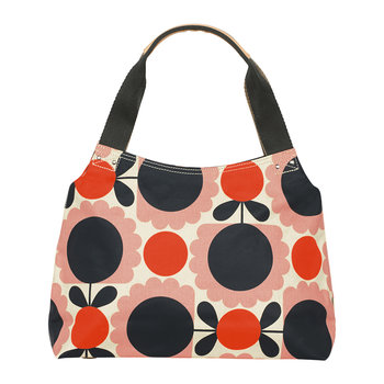 Laminated Scallop Flower Spot Shoulder Bag - Blush