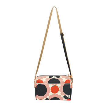 Laminated Scallop Flower Spot Cross Body Bag - Blush