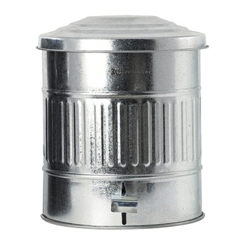 Metal Trash Can - 15L - Zinc