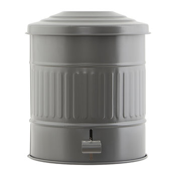 Metal Trash Can - 15L - Matt Army Green