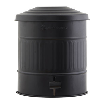 Metal Trash Can - 15L - Matt Black