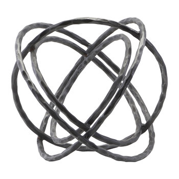Ball Sculpture - Iron - Black