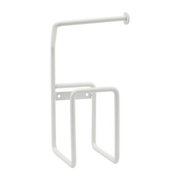 Steel Toilet Roll Holder - White