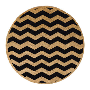 Chevron Door Mat - Round