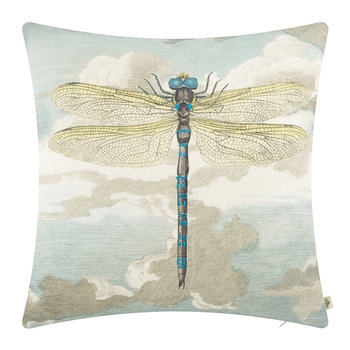 Dragonfly Over Clouds Cushion - 50x50cm - Sky Blue