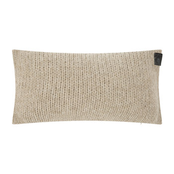 Knitty Alpaca Wool Cushion - 30x50cm - Sandstone