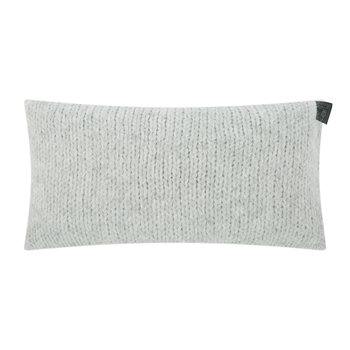 Knitty Alpaca Wool Cushion - 30x50cm - Light Grey