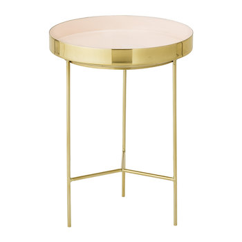 Round Aluminum Tray Table - Small - Brass/Rose
