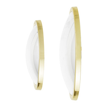 Art Deco Round Mirror - Gold - Set of 2