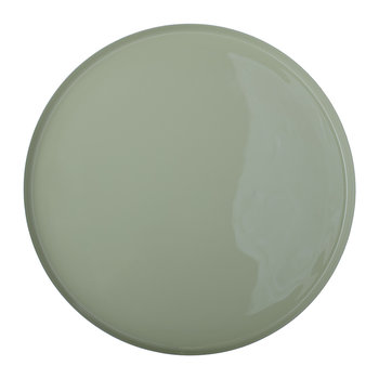 Round Aluminum Tray - Brass/Green