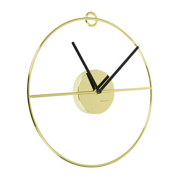 Art Deco Wall Clock - Gold/Black