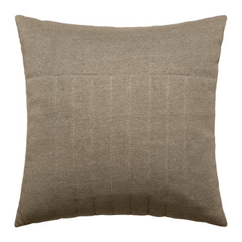 Ridged Cotton Pillow - 45x45cm - Nature