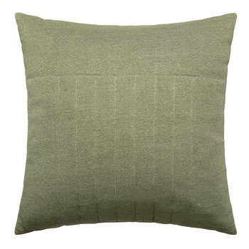 Ridged Cotton Cushion - 45x45cm - Green