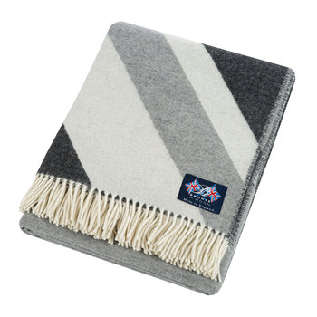 Union Jack Merino Lambswool Throw - Grey