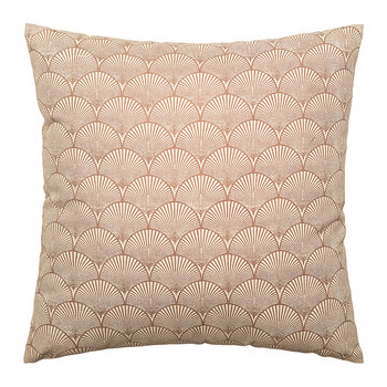 Shell Patterned Cotton Pillow - Brown - 50x50cm