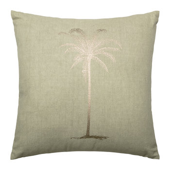 Green Cotton Palm Tree Cushion - 45x45cm
