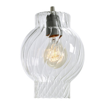 Textured Glass Ceiling Light - Clear - Short