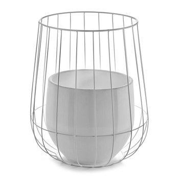Pot In A Cage - White