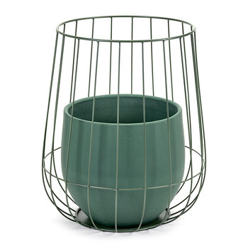 Pot In A Cage - Army Green