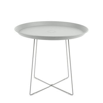Plat-O Side Table with Removable Tray - Light Grey