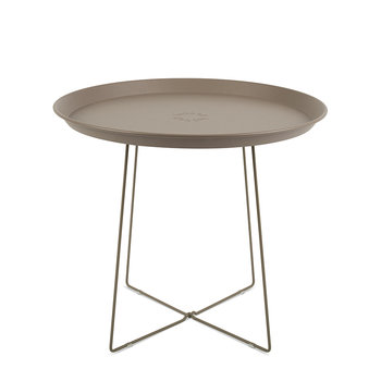 Plat-O Side Table with Removable Tray - Taupe