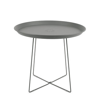 Plat-O Side Table with Removable Tray - Grey