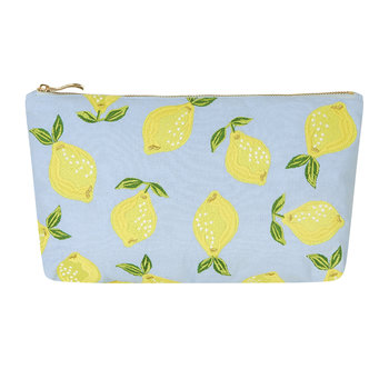 Lemon Travel Pouch - Chambray