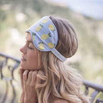 Lemon Eye Mask - Chambray