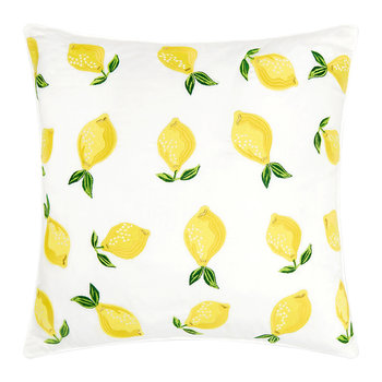 Lemon Cushion - 45x45cm - Blanc