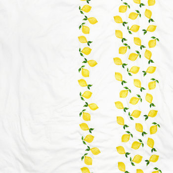 Embroidered Lemon Duvet Cover