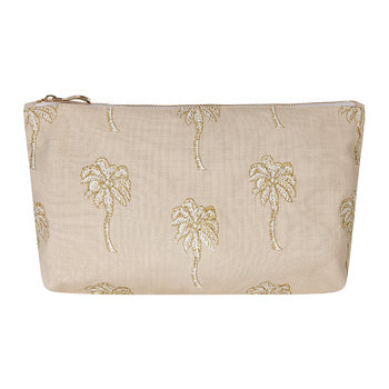 Palmier Travel Pouch - Taupe
