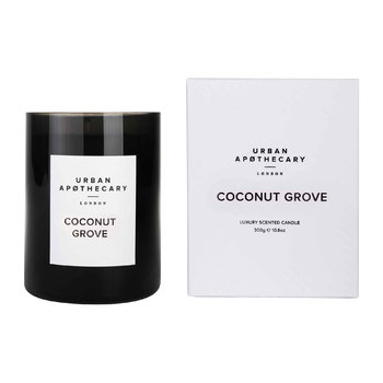 Luxury Scented Candle - Black Glass - Coconut Grove