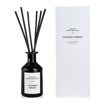 Luxury Reed Diffuser - Black Glass - Coconut Grove
