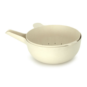Pronto Large Handy Bowl & Colander Set - White