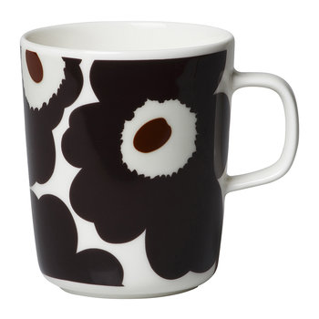 Oiva/Unikko Mug - Beige/Dark Grey/Brown