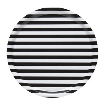 Tasaraita Plywood Tray - 31cm - White/Black