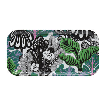 Kaalimetsa Plywood Tray - 43x22cm - White/Green/Violet