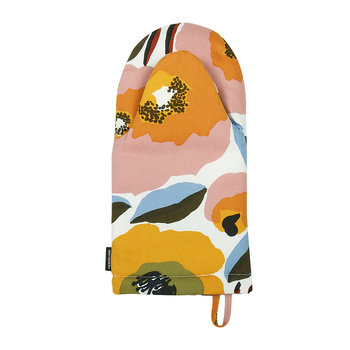 Rosarium Oven Glove - White/Red/Yellow/Blue