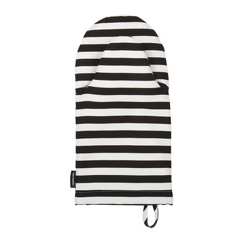 Tasaraita Oven Glove - White/Black