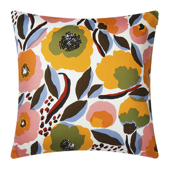 Rosarium Pillow Cover - 50x50cm - White/Red/Yellow/Blue
