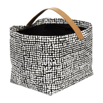 Orkanen Vasu Storage Basket - Dark Grey/Off-White