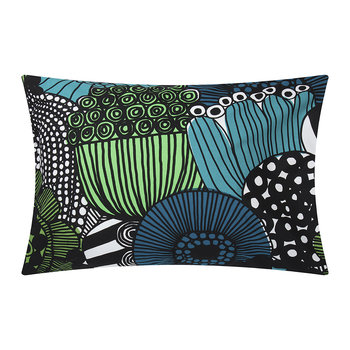 Siirtolapuutarha Pillowcase - White/Green/Blue