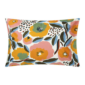 Rosarium Pillowcase - White/Red/Yellow/Blue
