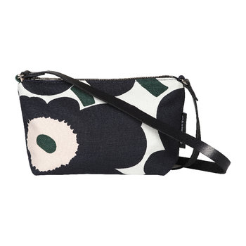 Heli Pieni Unikko Shoulder Bag - Off White/Dark Grey/Green