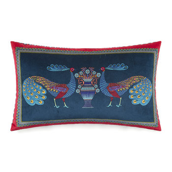 Peacock Garden Cushion - 30x50cm - Dark Blue