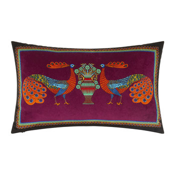 Peacock Garden Cushion - 30x50cm - Magenta