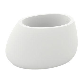 Stone Planter - White - Short